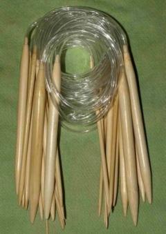 Bambus 40 cm hringprjónar