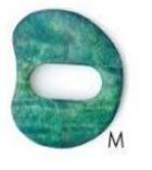 Sjal-næla - græn - M image