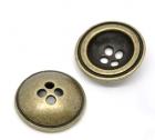 Málmtölur / Antík bronse kúptar17mm / 6stk image