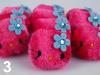 Textílskraut - Hello Kitty /1 stk. dökkbleik image